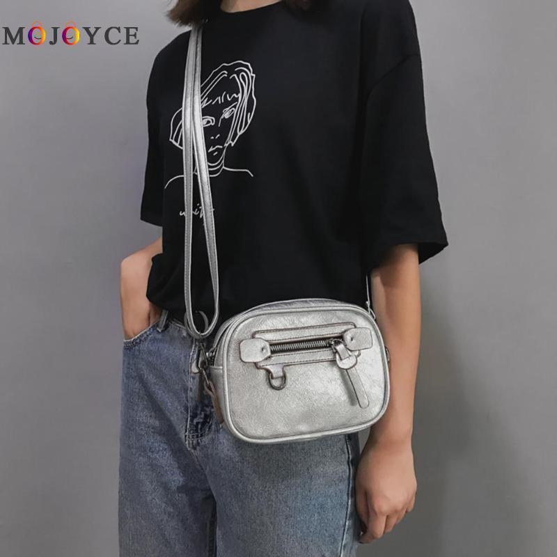 Мода Sling Малый мешок плеча женщин Сплошной цвет Crossbody сумки Bolsa Feminina 2020