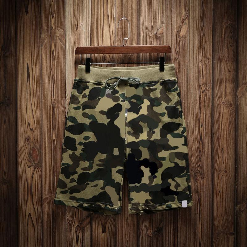 Hombre casual verano pantalones cortos masculinos pantalones de moda hombre camuflaje pantalón corto moda fitness ropa deportiva corriendo relajado pelsas de alta calidad