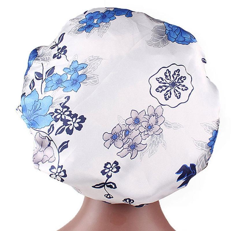 Donne Dormire Night Cap Wide Band stampa floreale Bonnet Hair Beauty Chemo Beanie Nuovo