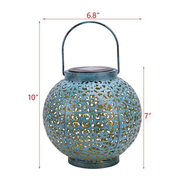 LED F8 Sombrero de paja Lámpara Beads Control de luz solar Lámpara de decoración de jardín de inducción automática IP44 Al aire libre impermeable Jardín Retro Lámpara de hierro 60