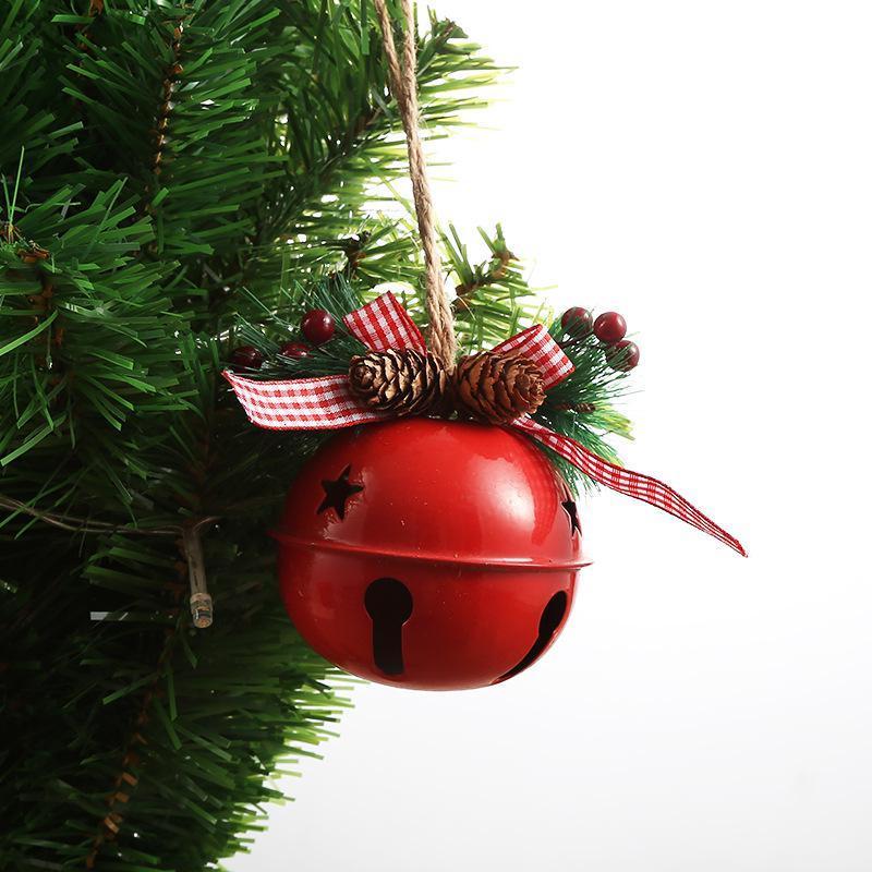 Natale Jingle Ferro Battuto della grande campana Ciondolo Decorazioni Natale Bell sospensione di Natale ornamenti partito di nuovo anno giocattoli per bambini AHA2214