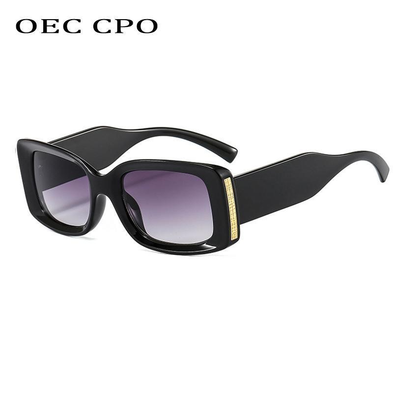 Солнцезащитные очки OEC CPO Винтажные квадратные женщины бренд дизайнер мода прямоугольник солнцезащитные очки женские стимпанк очки мужчины оттенки o872