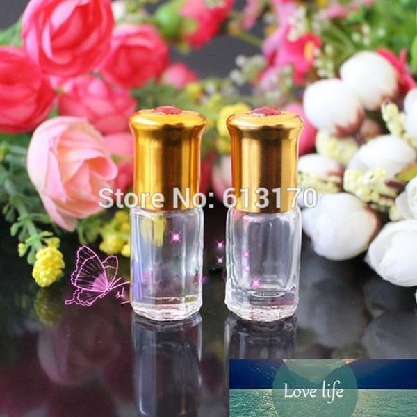 3 ml şeffaf cam rulo şişeler boş uçucu yağ parfüm şişesi taşınabilir küçük örnek şişeleri cam rulo topu ücretsiz kargo