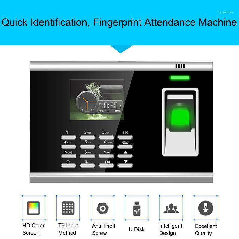 Биометрический отпечаток руки отпечатков пальцев Система посещаемости TCP / IP отпечатков пальцев USB USB-контроль времени часов рекордера офиса Сотрудники1