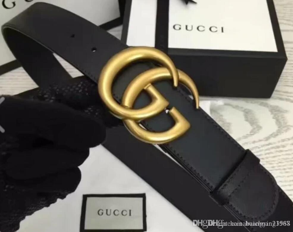 #001 01 2020 Fashion Stripe Pattern Big Buckle Men Designer Belts European Style G waistbands High Quality Real Leather Women Belt