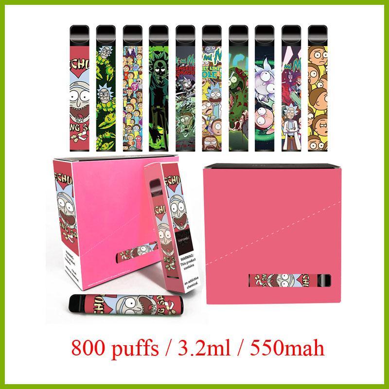 Carton puff plus dispositivo desechable 800 bocanadas 3,2 ml pod 550mAh desechable pluma vape batería vs xxl puff