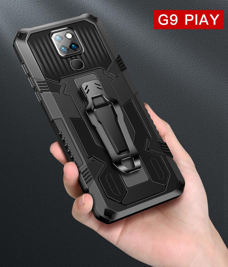 MOTO G9 oyun / G8Powar / MOTOE 2020 / manyetik halka araç telefonu tutucu Kickstand ile Mesnetiyle E7 / G8-GÜÇ-LITE Dirt dayanıklı için telefon kılıfı