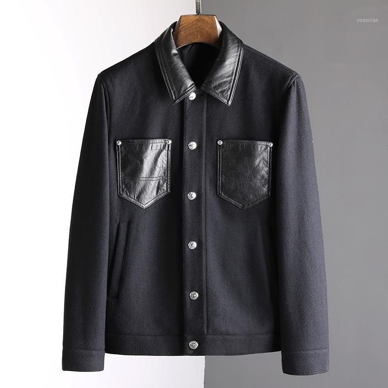 JK10711 Mode Manteaux de mode Vestes 2021 Runway European Design Style Style Vêtements hommes1
