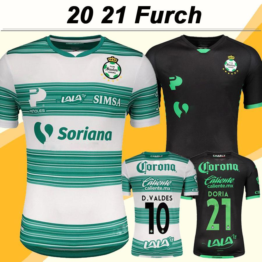 NCAA 2020 2021 Laguna Mens Futbol Formaları Yeni MX Club Furch Lozano Doria Eve Futbol Gömlek D. Valdes F. Gorriaran Kısa Kollu Unifor