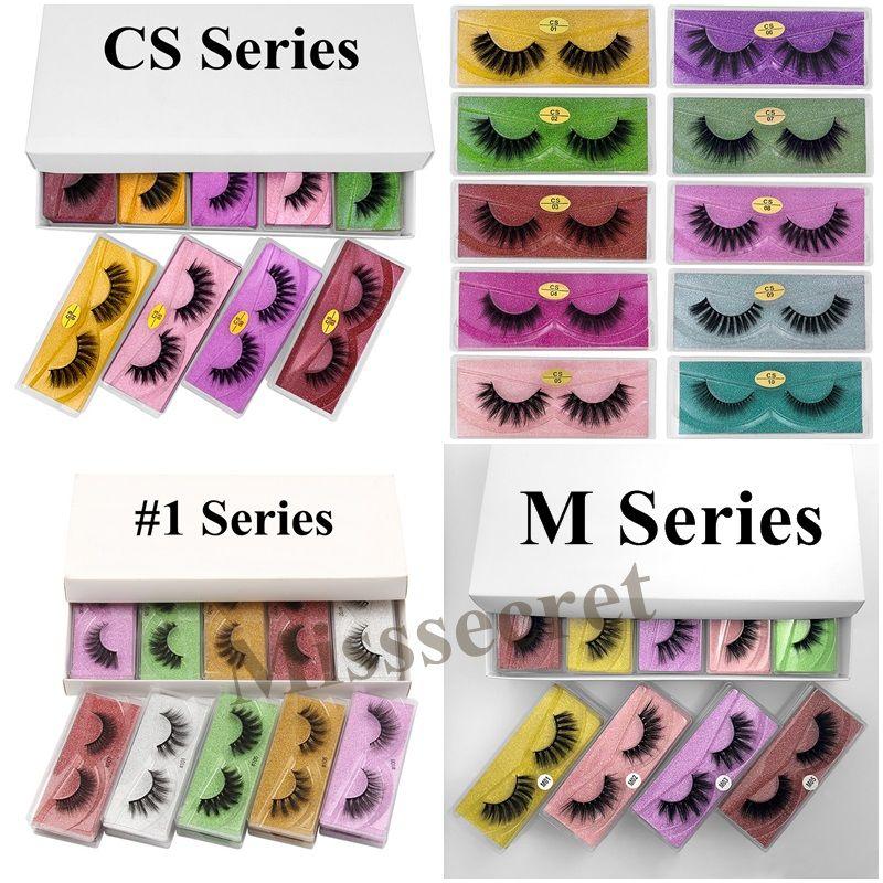 3D Mink Eyelashes Mix Styles Faux Lashes Natural Soft False Eyelash Extension for Eye Makeup Customize Logo Label