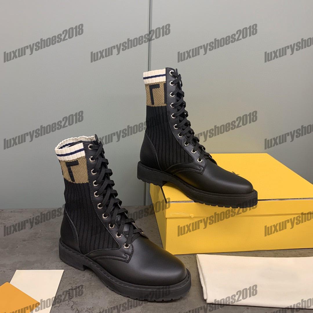 Bayan Yeni Renk Rahat Çizmeler Ayakkabı Deri Örgü Orta Üst Roman Martin Çizmeler Parti Düğün Ayakkabı Platformu Trainer Boot Ayakkabı