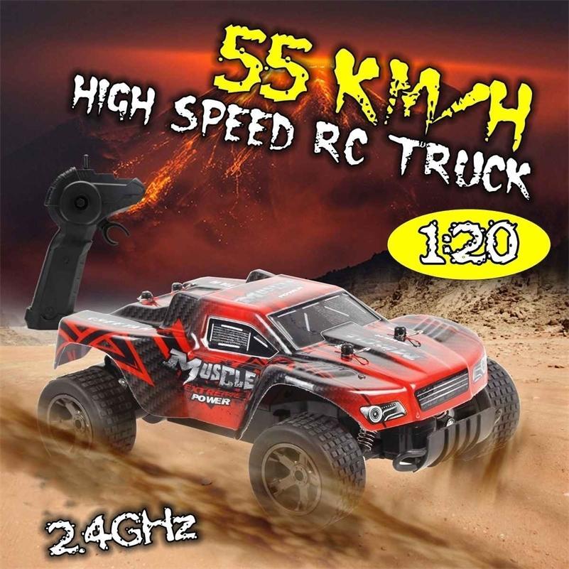 RC Cars Radio Control 1:20 2.4G Rock Car Buggy Offgy Trucks Tys для детей Высокоскоростное восхождение Mini RC Drift Wating Car 201218