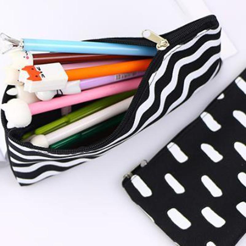 Streifen Bleistift Tasche Taschenschule Kosmetik Makeup Bleistift Stift Organizer Bag Case Tasche Büro Schulbedarf GGB2240