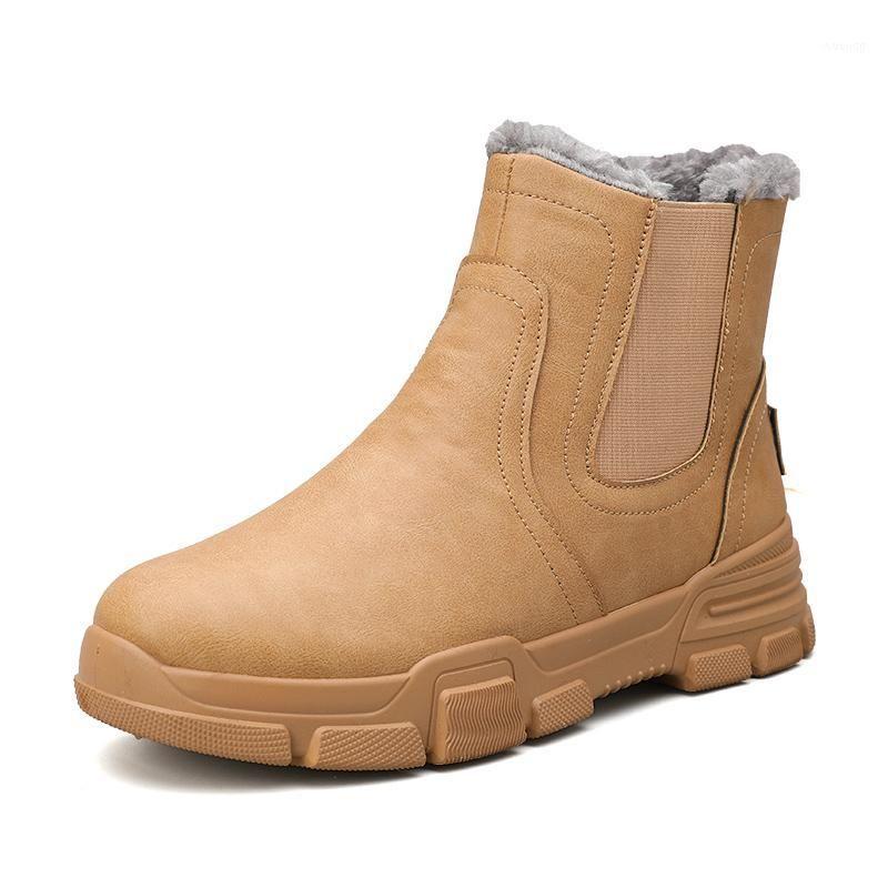 Botas homens sapatos de inverno sapato de couro mackle cowboy impermeável sol shose homem motocicleta boot casual 2021 calçados masculinos1