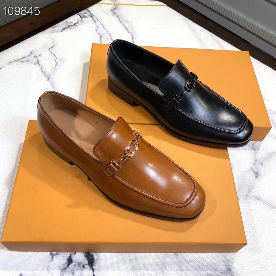 20SS chaud usine Vente- nouveaux designers de brevets luxurys chaussures habillées chaussures treillis bonne chaussures tendance de la mode pour hommes