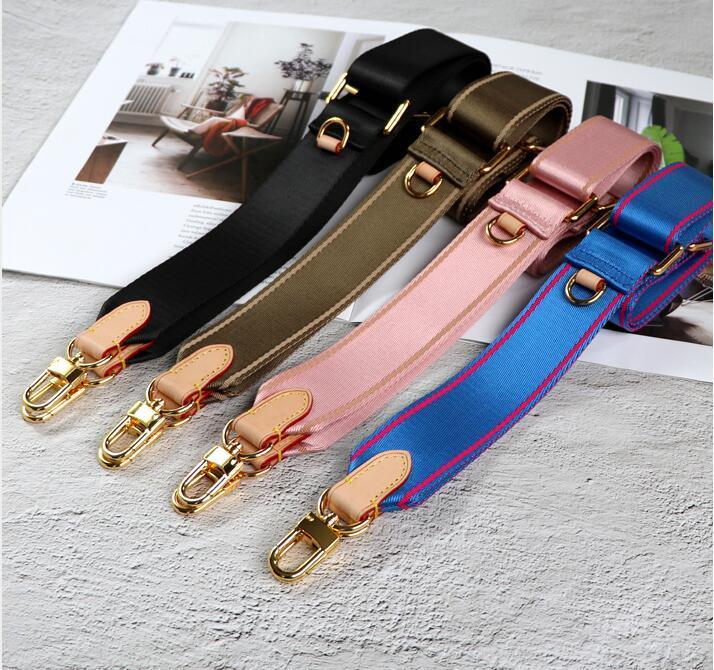بيع 3 ألوان الكتف الأشرطة ل 3 قطعة مجموعة أكياس النساء حقيبة crossbody حقيبة قماش أجزاء حزام الوردي الأخضر ضوء الأخضر، تسليم مربع بطاقة cert