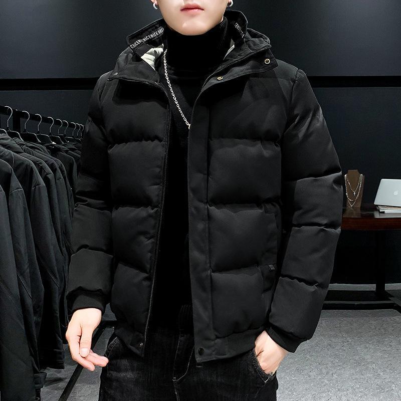 Kış Yeni Kore Kapüşonlu Kısa Erkek Aşağı Pamuk Yastıklı Ceket My008