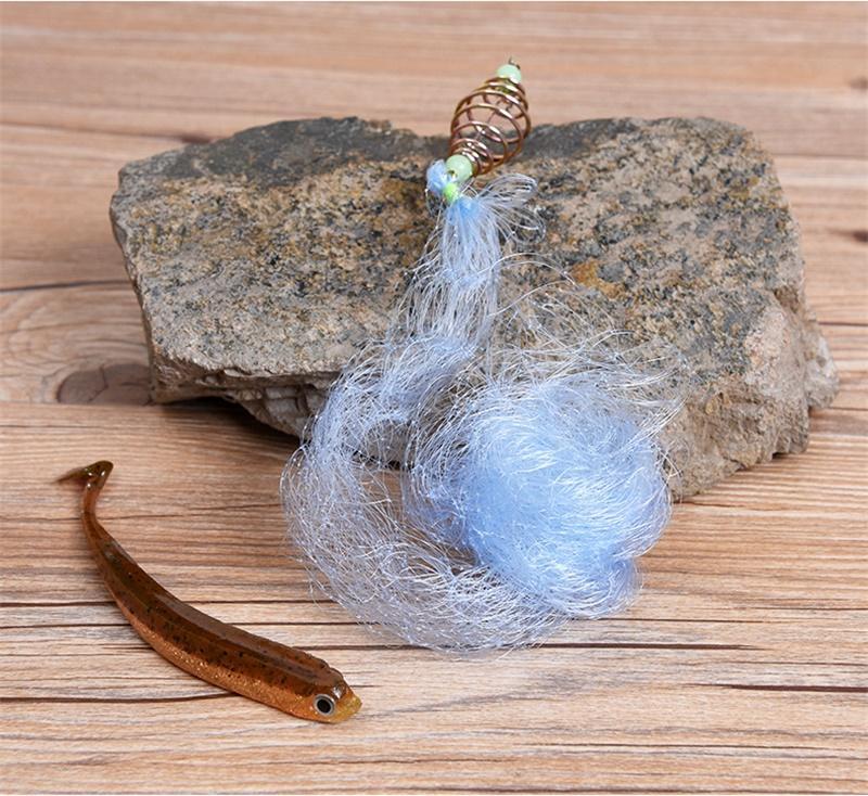 Nylons Netze Fang Angelausrüstung Kein Fischhaken Polygon Net Vergoldet Spring Runder Ball im Freien Hohe Qualität 1 7LO L2