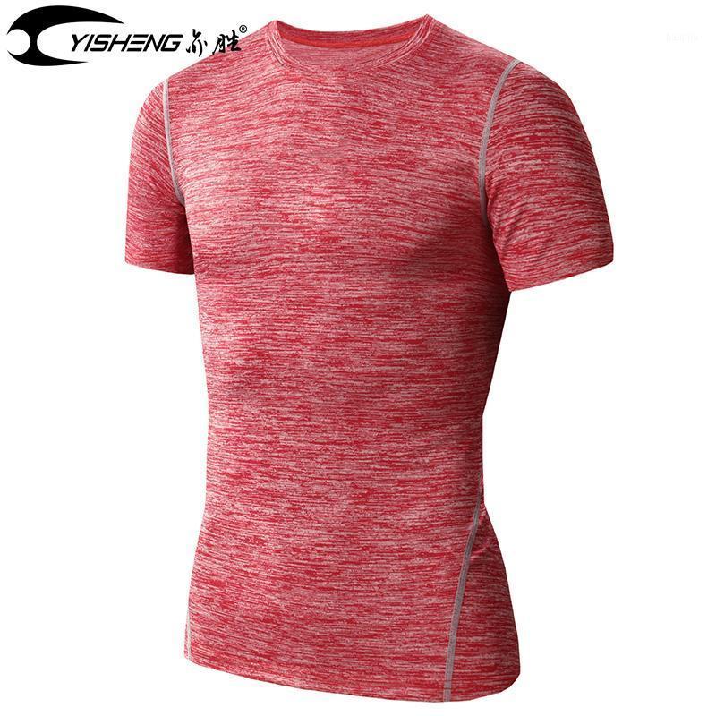 Thisheng Short Skeve Sport Chemise de course pour hommes Homme rapide Basketball Football Entraînement T-shirt Hommes Gym Vêtements Vêtements Sportswear1