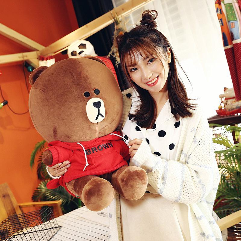 Maglione di simulazione Brown Bear Peluche Peluche Bambino carino Bambola Carina di Alta Qualità Confortevole e Software Hold Cuscino