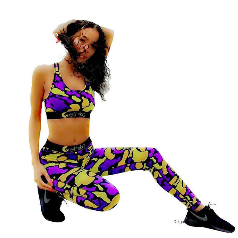 Ethika Women Tracksuits Dos trajes conjuntos Slim Sports Ropa de yoga ETWS3 Sets Trajes de natación Dropshipping Moda Mujeres 2 piezas Ethika Set