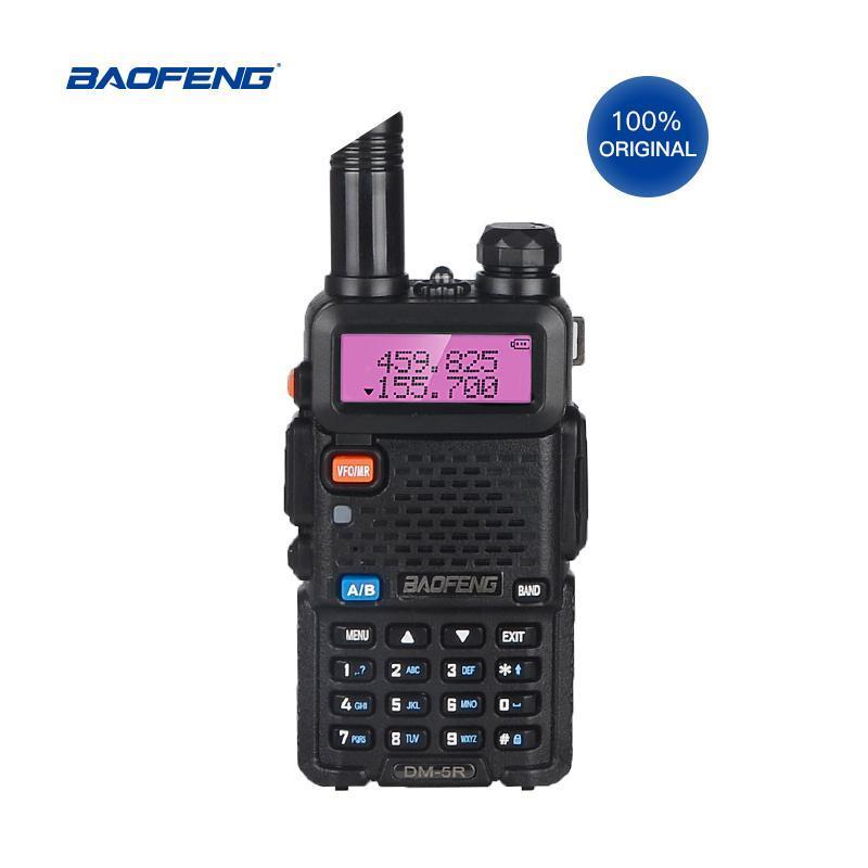 Walkie Talkie 5W 디지털 DMR-5R Baofeng Tier II 모바일 라디오 듀얼 밴드 양방향 DM-5R