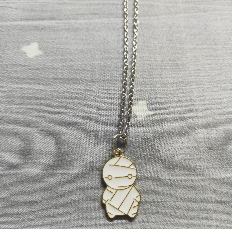 Cute Mummy hip hop collana pendente per personalità accessorio in acciaio in titanio coppia in acciaio coppia maglione catena