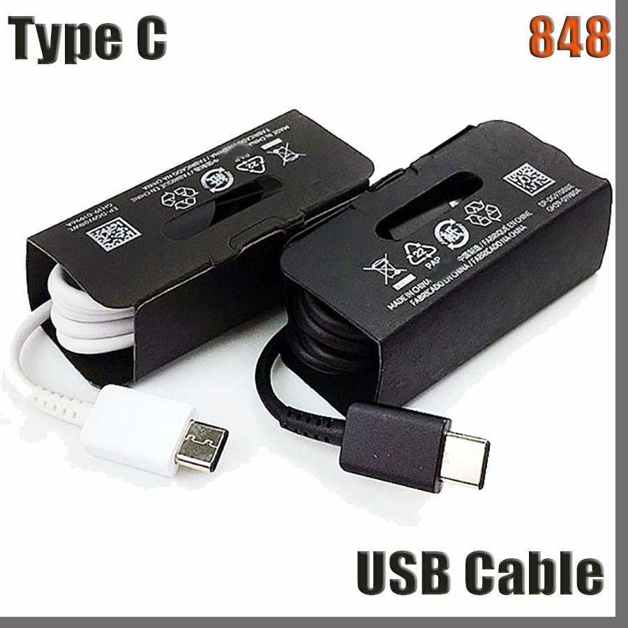 848D OEM Quality USB Type C Cable 1M 3FT 2A Fast Charging Charger Cable Cord Type-C for Samsung Galaxy S8 S9 S10 S20 note 8 9 10 EP-DG970BBE