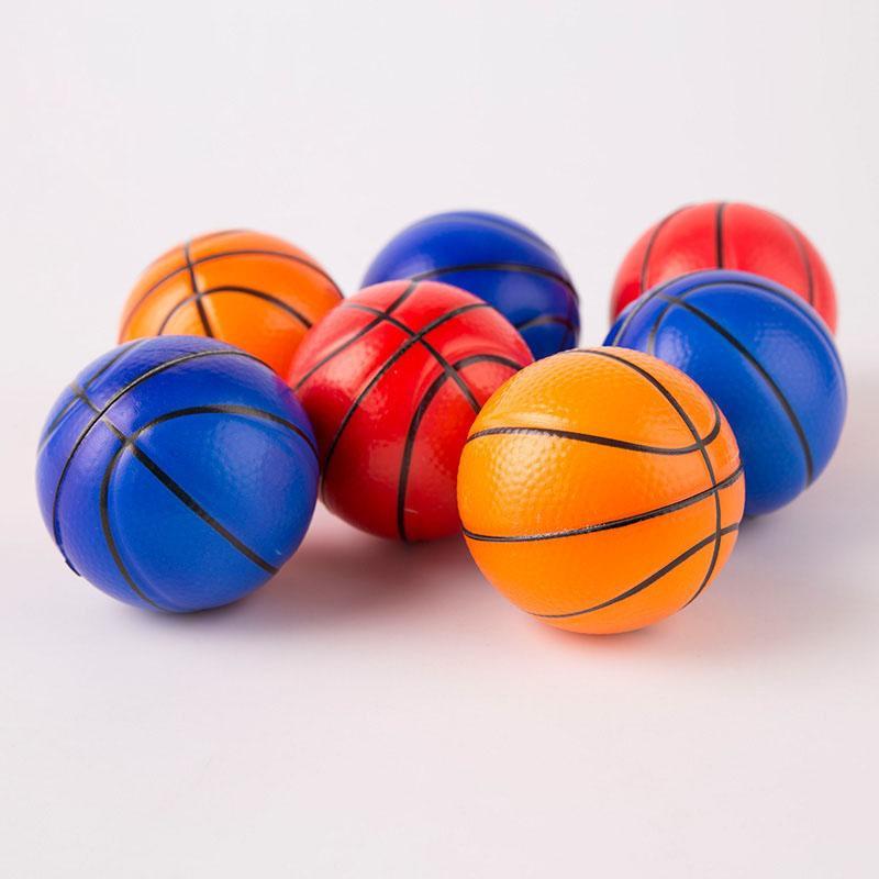 Esponja bola espuma mini basquete kindergarten bebê crianças brinquedo bolas anti stress bolas espremer brinquedos de descompressão
