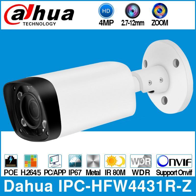 Dahua IPC-HFW4431R-Z 4MP POE IP-камера 80m MAX IR Night 2,7 ~ 12 мм объектив VF моторизованный зум Автофокус CCTV камеры безопасности