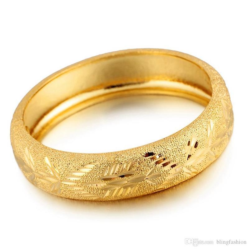 Дубай браслет свадебные ювелирные изделия вырезанные 18K желтые золотые наполненные женские открытый браслет подарок роскошные аксессуары