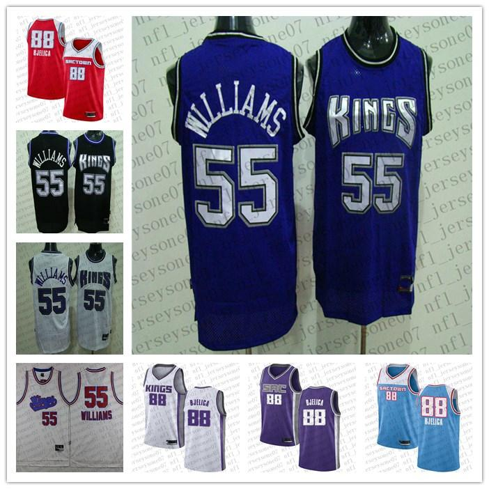 Hommes personnalisés femmes jeunesse sacramentorois55 Jason Williams # 88 Nemanja Bjelica Camo Basketball Swingman Collection Jersey
