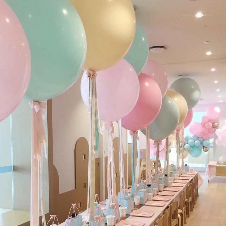 1pcs 36inch Macaron Ballon Latex Bonbons couleur Peach bleu anniversaire de mariage Sexe Reveal de fête d'anniversaire Ballons décoratifs