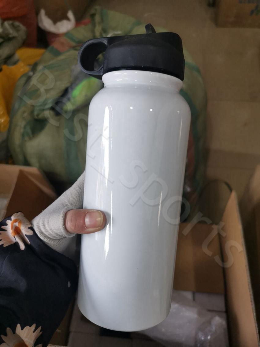 Botella de agua de acero inoxidable de la sublimación de 32oz Botella de agua de acero inoxidable Doble vacío Sippy Spy Deporte al aire libre Beber Tumbler CYZ2971