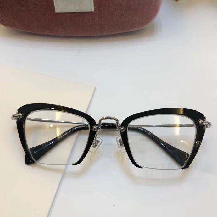 Caso Eyeeglass 54qs Marco y Hombres Temperamento Nuevos Marcos Gafas Marco Lentes Lente Hombres Marco claro Mujeres Oculos Lentes 2021 VFQTP