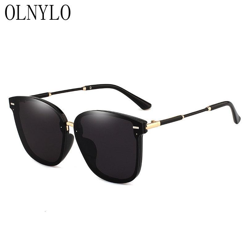 Novos Óculos Sexy Lady Mulheres Óculos de Sol Gradiener Es condução de Vintage Feminino Retro Sun Oversize Quadro Oculos Sol Marca UV HXLQL