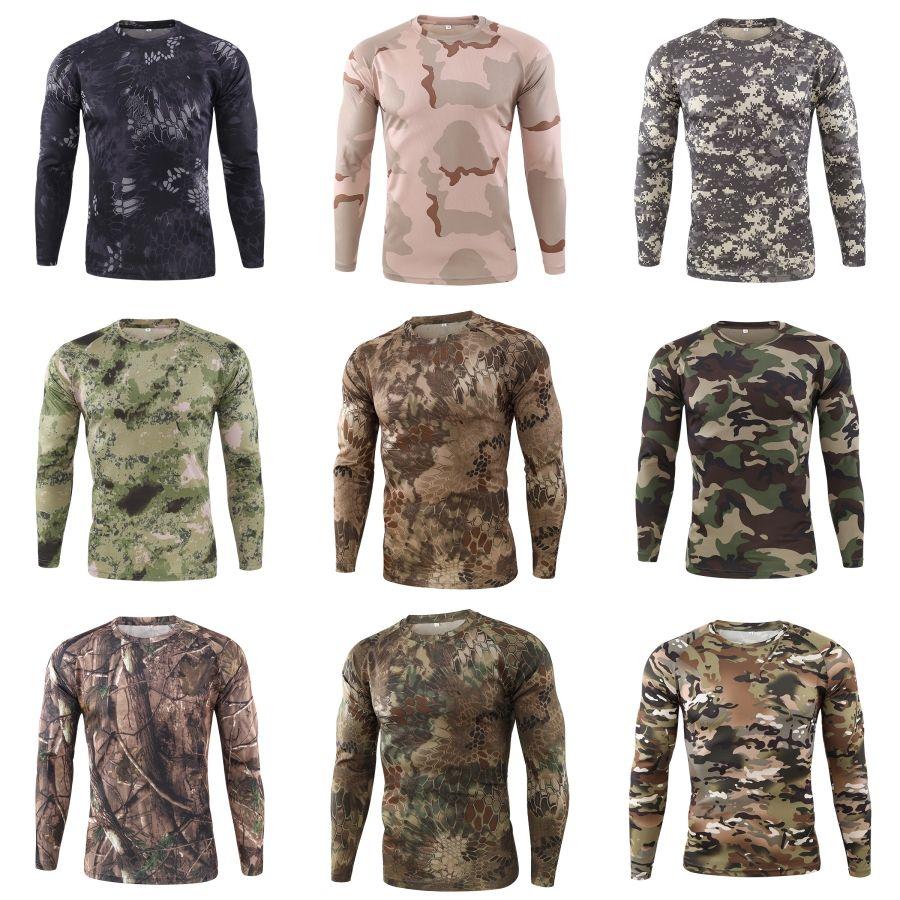 Magliette magliette a maniche lunghe O-Collo T Moda Natural Color Mens Tees Mens casuale # 788