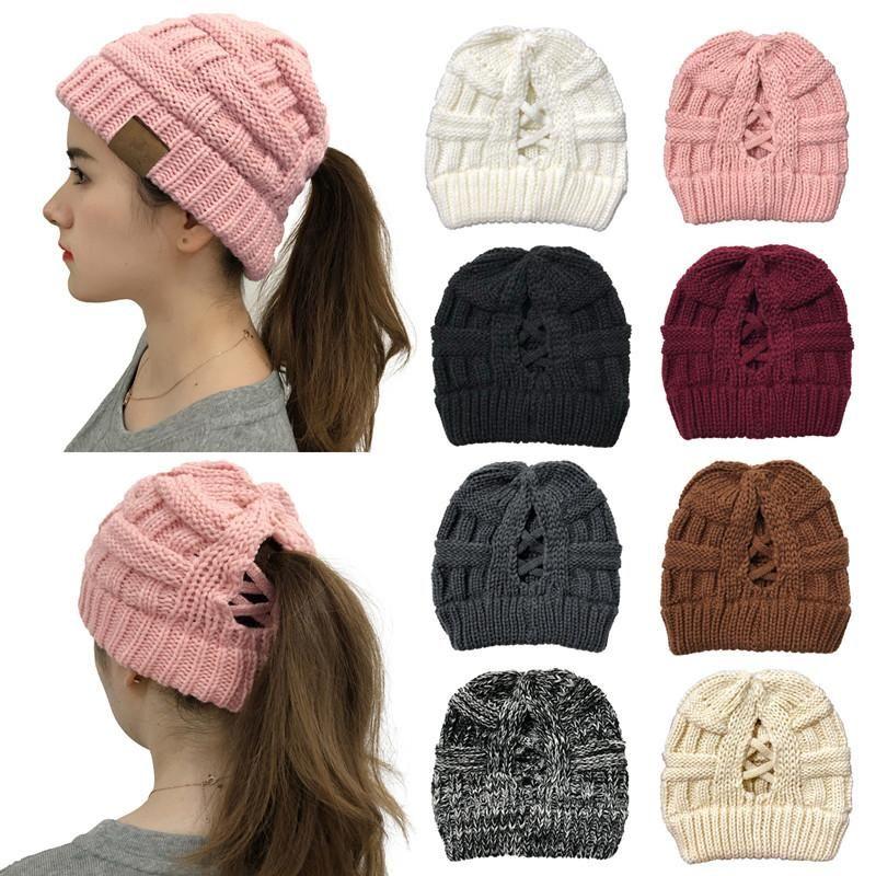 2020 Gorros Inverno Mulheres Chapéu por Mulheres malha de lã Cap Gorros Casual Chapéus Homens Hip-Hop Skullies Caps Hat Quente