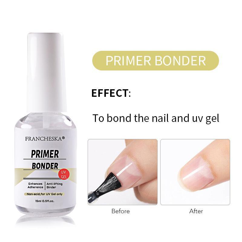 3Bottle prego 15ml Art Adhesive dessecante de Bond a unha e UV Gel Art Anti-deformação agente adesivo duradoura rapidamente seco TSLM2