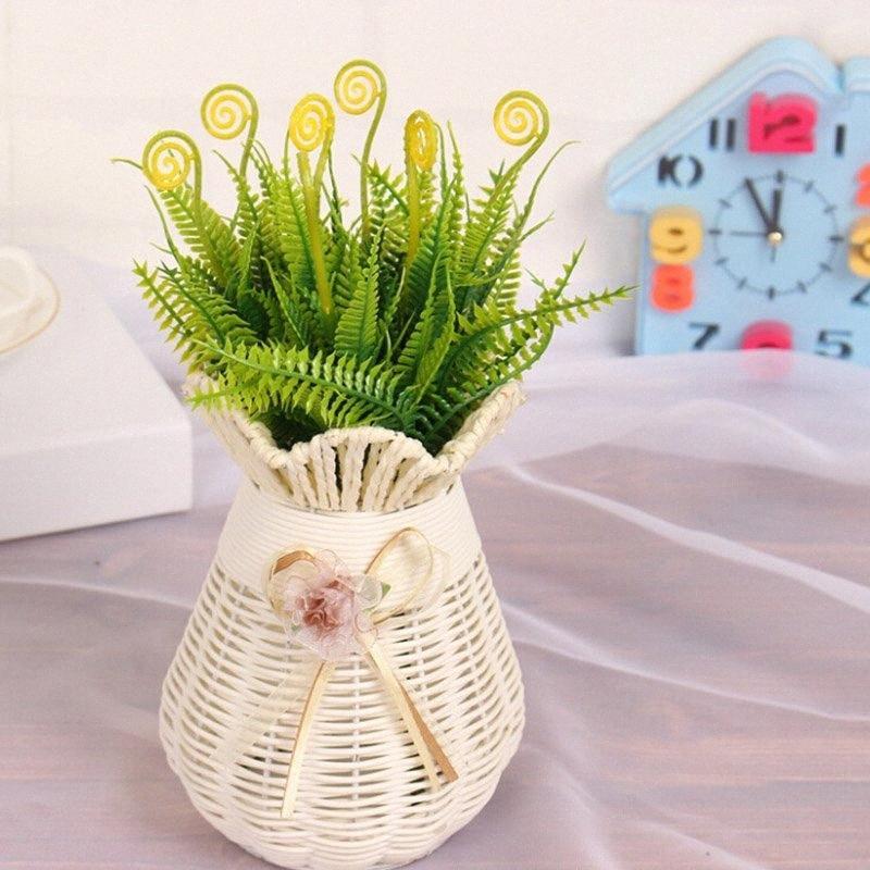 Künstliche Plastikblumen Sukkulenten Herbstblätter Flores für Zuhause-Party Hochzeit Dekoration Gartenpflanze Fake Flowers 1pVn #
