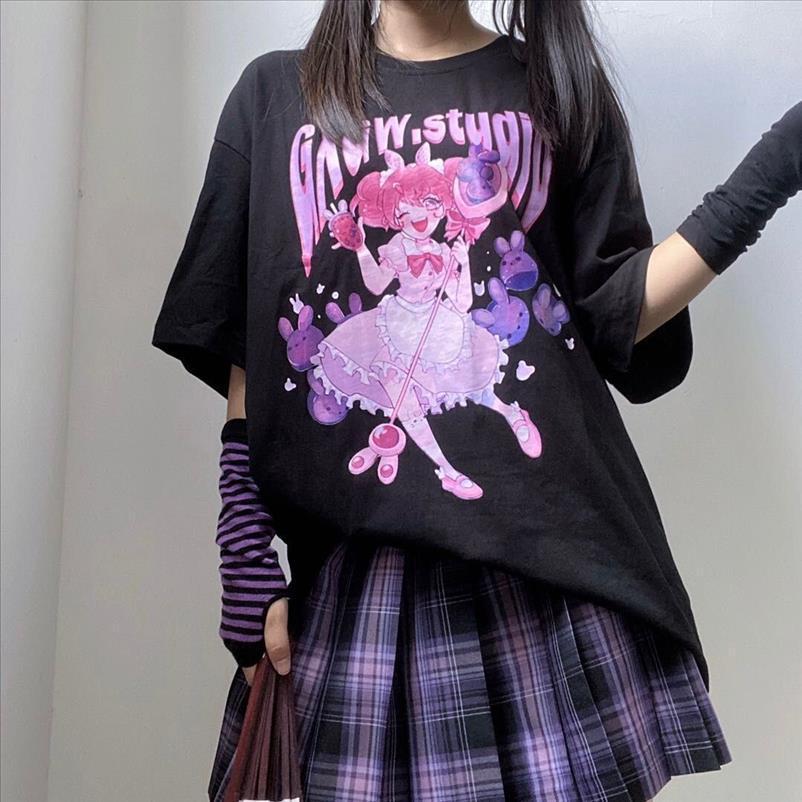 Sailor Moon Summer New Mode T-shirt Femmes Harajuku Fun Ulzzang T-shirt Mignon chat Tshirt Tshirt Dessin animé Top Tees