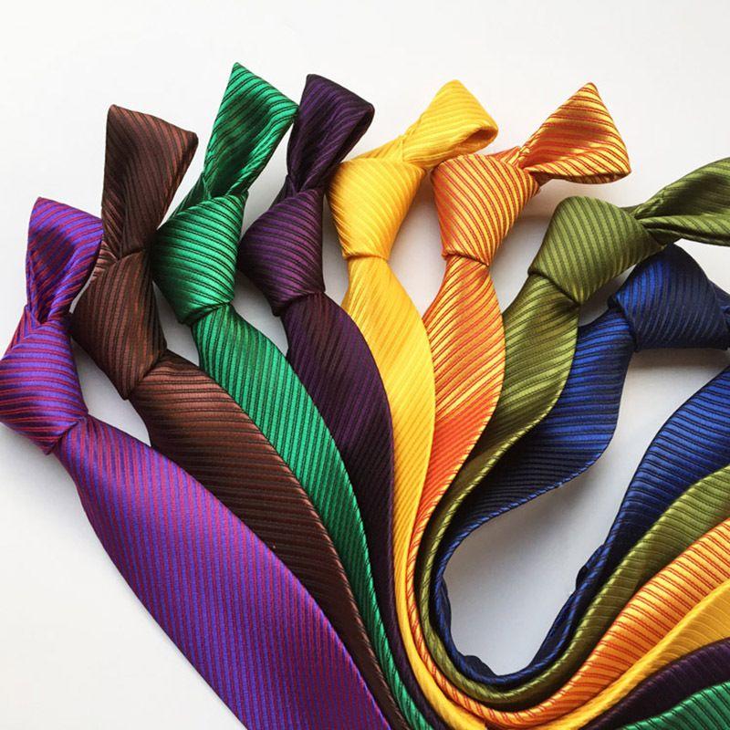 Casual oro ad alta densità raso di seta Cravatta 8 centimetri Moda Tie