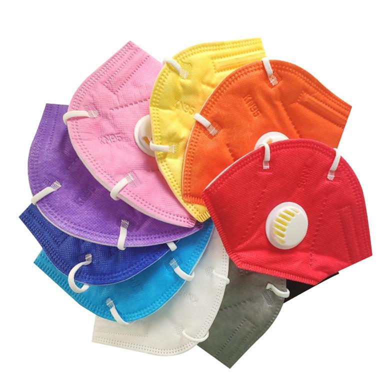Máscara de cara KN95 95% Filtro de 5 capas Diseñador Mascarilla Cara Activada Carbón Respiración Reutilizable Máscaras Reutilizables Válvula de respirador