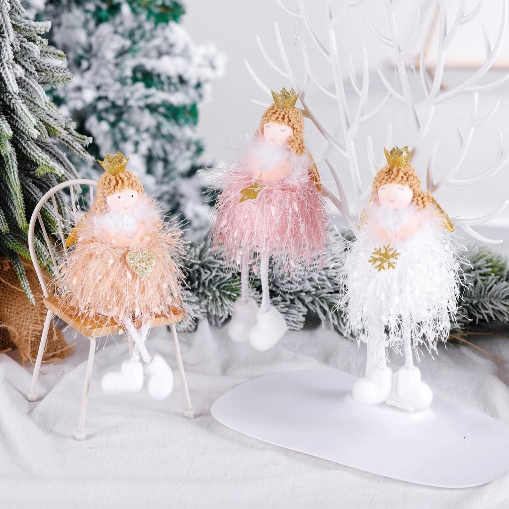 Noel Melek Peluş Bebek Kolye Ağacı Asılı Dekorasyon Parti Süsleri Eyl 16