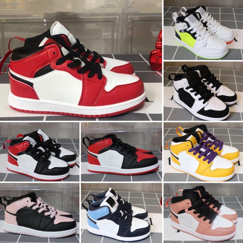 Nike Air Jordan 1 chaussures chaudes de vente en gros des enfants J 1 magasin 1s pas cher Top qualité enfants qualité J 1 1s chaussures de basket-ball des enfants