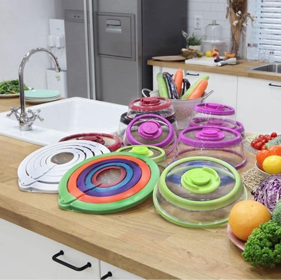 4 قطع مجموعة فراغ جديدة لحفظ الغذاء الغطاء الأغطية ختم يغطي الغذاء الصف قابلة لإعادة الاستخدام تمتد غطاء فراغ السداده مطبخ أدوات LJJP607