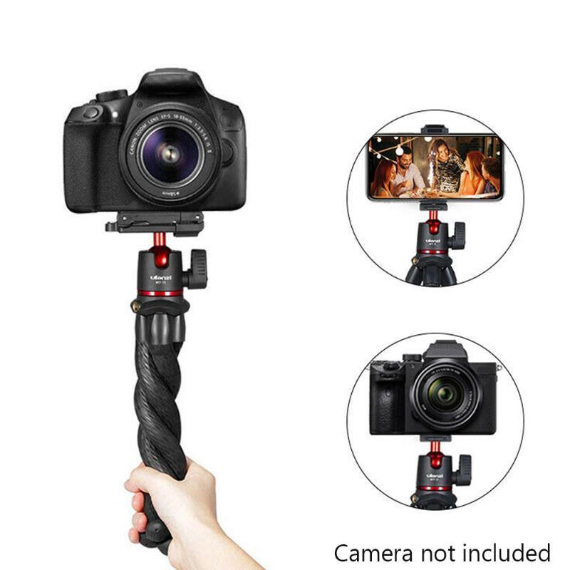 Câmera compacta curvável tripé flexível polvo selfie clipe ao vivo streaming titular do telefone mini portátil universal desktop
