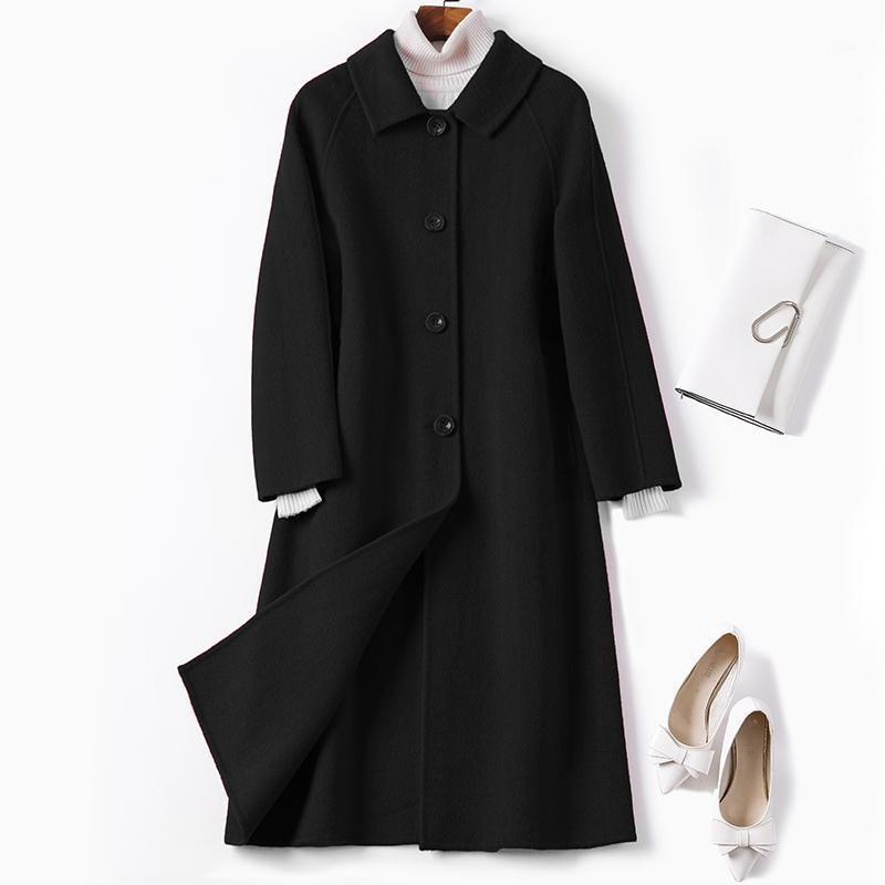 KMRAM Echtwollmantel Weibliche Jacke Frau Frühling 2019 Koreanische Doppelseite Wollschichten und Jacken Frauen Casaco Feminino My31571