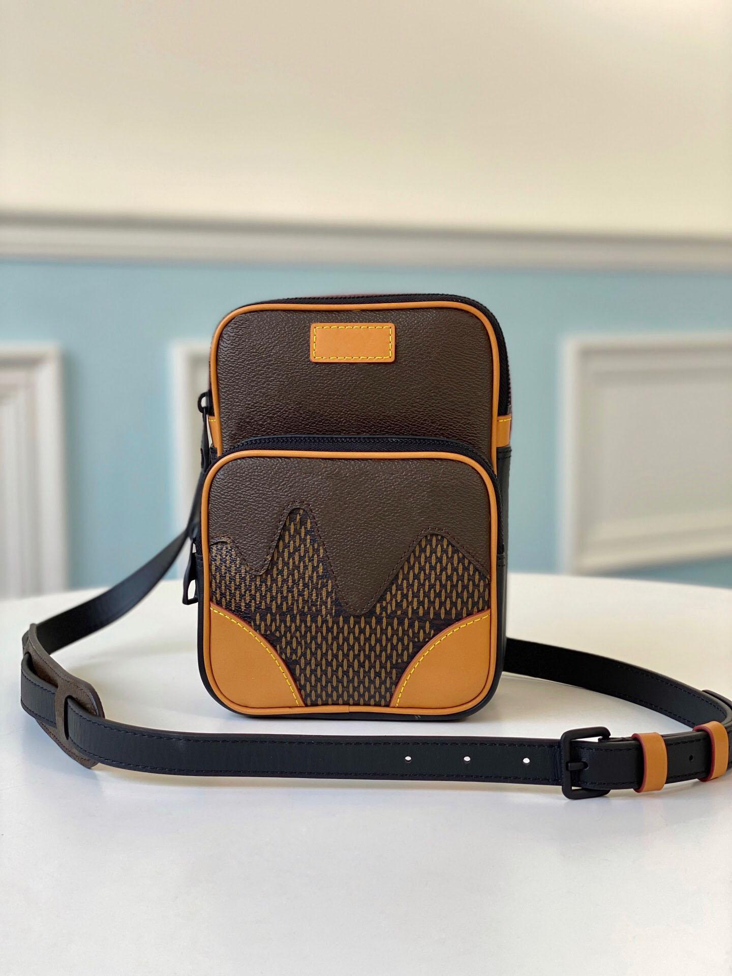 Moda Marrón Diseñadores Bolsas de lona Lujos de Lujos Bolsa de cinturón con Crossbody Mujeres Cuero 134 Cintura Amarillo Bolsa Cofre con bolsas de caja MXECF