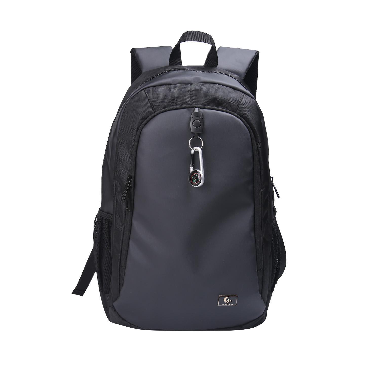 Schwarz vielseitig für Reisen, Outdoor-Mode Rucksack mit Rucksack